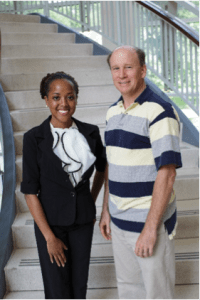 Simone Mayes (FAMU Alum) with mentor Dr. Walter O'Dell