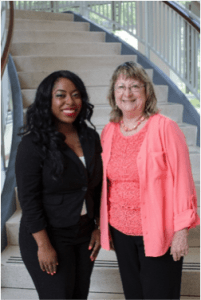 Decoria McCauley (FAMU Alum) with mentor Dr. Mary Ellen Young
