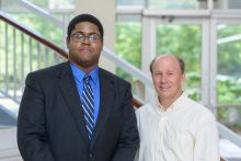 Kyle Steen (FAMU) with mentor Dr. Walter O'Dell